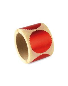 COLOP Haftprägeetiketten - rot - Ø 55mm