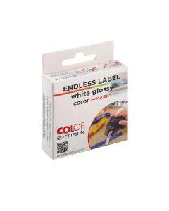 COLOP e-mark® Endlosettiketten - weiß glänzend
