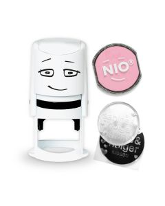 NIO Stamp with Ink Pad - SOFT PINK