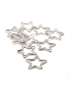 PAPERCLIPS - star - silver - 10 pcs.