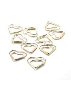 PAPERCLIPS - Heart - gold - 10 pcs.
