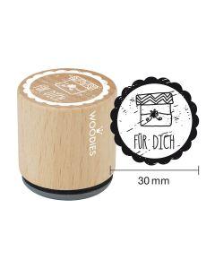 Woodies Motivstempel - Für Dich