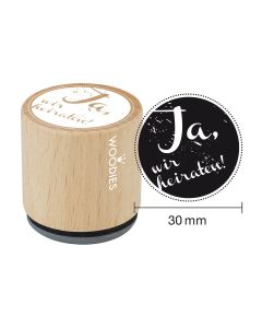 Woodies Motivstempel - Ja, wir heiraten