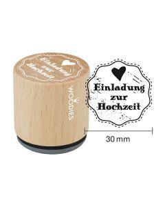Woodies Motivstempel - Einladung zur Hochzeit