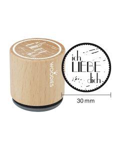 Woodies Motivstempel - Ich liebe Dich