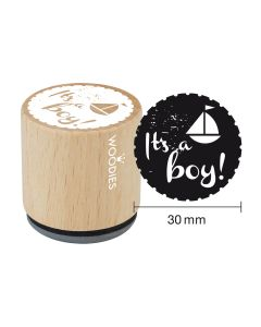 Woodies Motivstempel - It's a boy