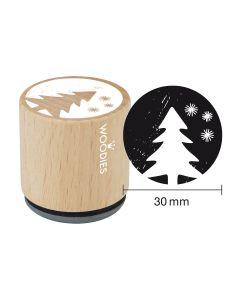 DE-Woodies Motivstempel - Tannenbaum - ES-Sello Woodies - árbol de Navidad