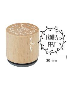 Woodies Motivstempel - Frohes Fest
