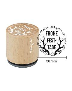 Woodies Motivstempel - Frohe Festtage