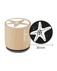 EN-Woodies Rubber Stamp - Starfish - DE-Woodies Motivstempel Seestern - FR-Tampon Woodies - Étoile de mer