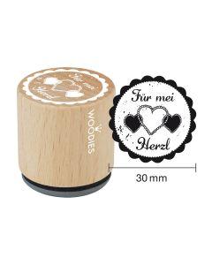 Woodies Motivstempel - Bayern - Für mei Herzl