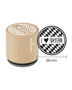 Woodies Motivstempel - Bayern - I love Bayern