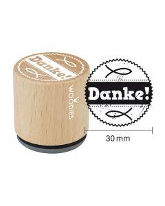 Woodies Motivstempel - Danke!
