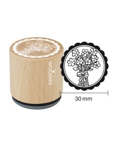 DE-Woodies Motivstempel - Blumenstrauss - FR-Tampon Woodies - Bouquet de fleurs