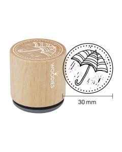DE-Woodies Motivstempel - Regenschirm - FR-Tampon Woodies - Parapluie