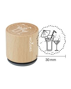Woodies Rubber Stamp - Cocktails
