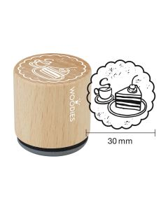 Woodies Rubber Stamp - Coffee and cake
