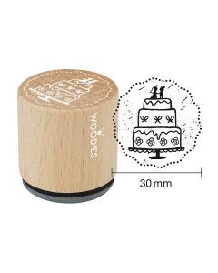 Woodies Rubber Stamp - Wedding cake