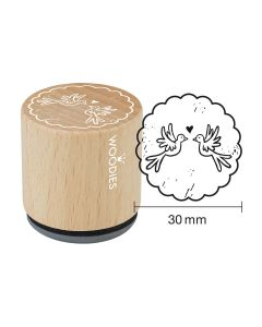 Woodies Rubber Stamp - Doves