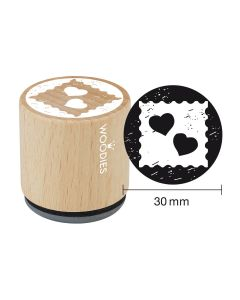 Woodies Rubber Stamp - Hearts