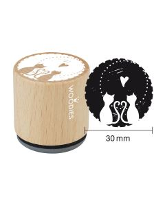 Woodies Rubber Stamp - Cats