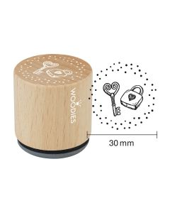 Woodies Rubber Stamp - Lock and key