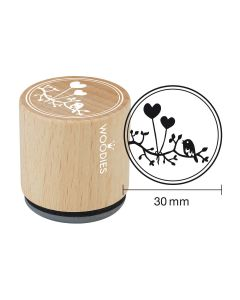 Woodies Rubber Stamp - Heart balloon