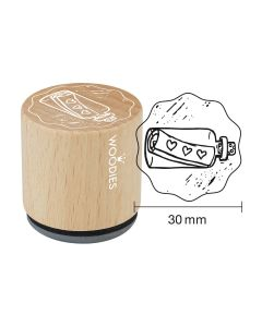 Woodies Rubber Stamp - Message in a bottle