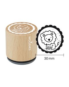 Woodies Rubber Stamp - Lion