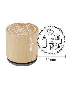 Woodies Rubber Stamp - Cube