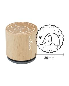 Woodies Rubber Stamp - Elephant