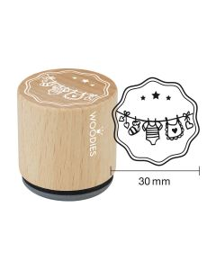 Woodies Rubber Stamp - Clothes line