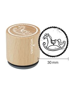Woodies Rubber Stamp - Rocking horse