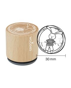 Woodies Rubber Stamp - Bunny