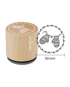 Woodies Rubber Stamp - Mitten