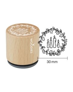 Woodies Rubber Stamp - 4 candles