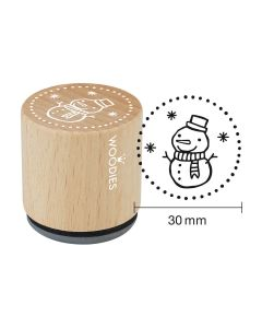 Woodies Rubber Stamp - Snowman