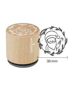 Woodies Rubber Stamp - Santa claus