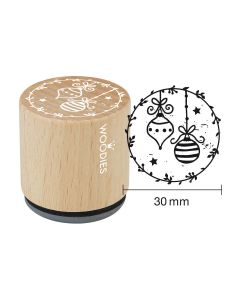 Woodies Rubber Stamp - Christmas ball