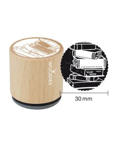 Woodies Rubber Stamp - Books 2