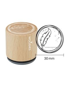 Woodies Rubber Stamp - Feather