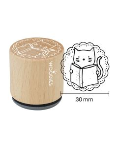 Woodies Rubber Stamp - Cat