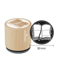 Woodies Rubber Stamp - Book