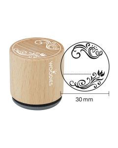 Woodies Rubber Stamp - Ornament