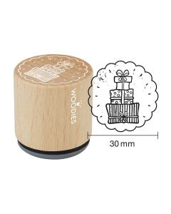 Woodies Rubber Stamp - Gifts