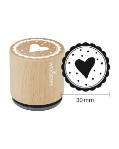Woodies Rubber Stamp - Heart