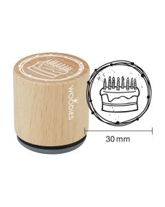 Woodies Rubber Stamp - Cake