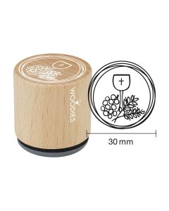 Woodies Motivstempel - Kelch, Trauben, Getreide