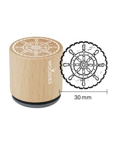 EN-Woodies Rubber Stamp - Steering wheel - DE-Woodies Motivstempel Steuerrad - FR-Tampon Woodies - Volant