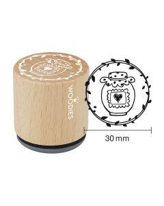 Woodies Rubber Stamp - Jar of jam